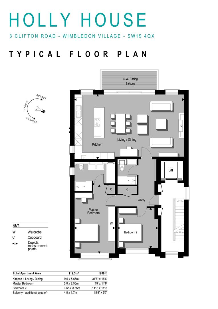 Floorplan for Holly House, Clifton Road, London